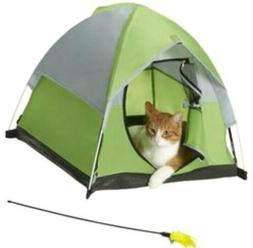 1XPet Cat Bed Washable Portable Pet Tent With Feather Toy