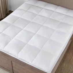 2 inch Thick Quiltied Goose Down Feather Mattress Topper Kin