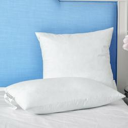Puredown® 2 Pack White Down & Feather Mix Bed Pillows Recta