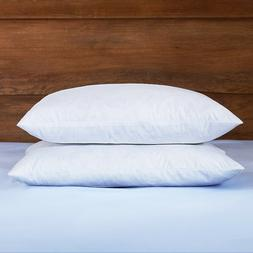 Puredown® 2 Pack White Feather Square Bed Pillows for Sleep