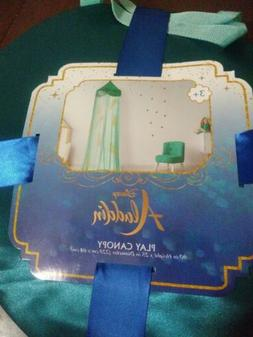 Disney Aladdin Jasmine PLAY TENT O/S BED CANOPY Teal Gold Fe
