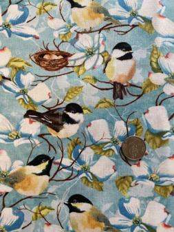 Cotton Fabric BTY Feather Your Nest Wilmington Prints Birds