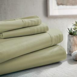 Dobby Stripe Bed Sheet Set by The Feathered Nest - Extra Dee