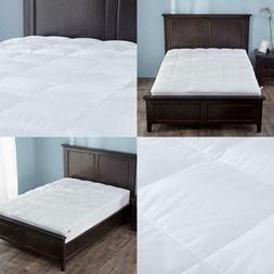 Down Mattress Pad Topper Quilted Cotton Top Block Bed Bugs D