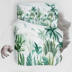 Feather Bamboo 3D Printing Duvet Quilt Doona Covers Pillow C