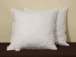 """Bed of Roses Euro Feather Pillow Inserts 26"""" x 26"""" Set of Tw"""