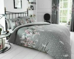 Feather Grey Duvet Cover & Pillow Case-Bedding Sets-All Size