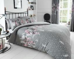 Feather Grey Duvet Cover & Pillow Case-Quilt Cover-Bedding S