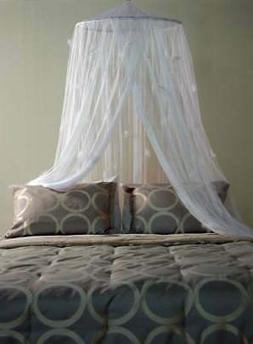 Feather Net Canopy White