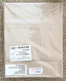 The Company Store Feather Tan 600 TC Sateen Solid Flat Sheet