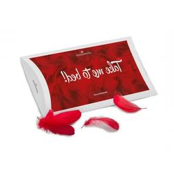 Feathers for Deco Bed Red Romantic Accessory Caress Night Se