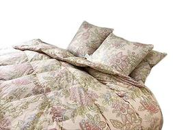 Floral Goose Down & Feather Comforter Blanket 100% Organic C