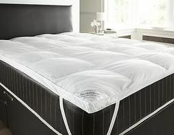 GOOSE AND DOWN FEATHER MATTRESS TOPPER SINGLE DOUBLE KING SU