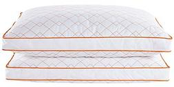 puredown Goose Feather Down Gusseted Pillow Bed Pillows for