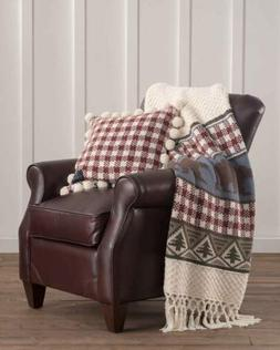 PENDLETON HOME Cabin PINE LODGE Knit THROW BLANKET + Feather