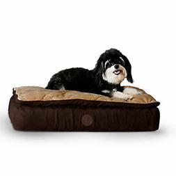 KH Manufacturing KH Mfg Feather Top Chocolate Ortho Dog Bed