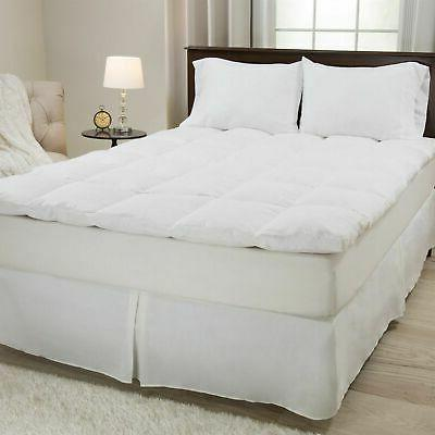 100 percent duck feather gusset bed topper