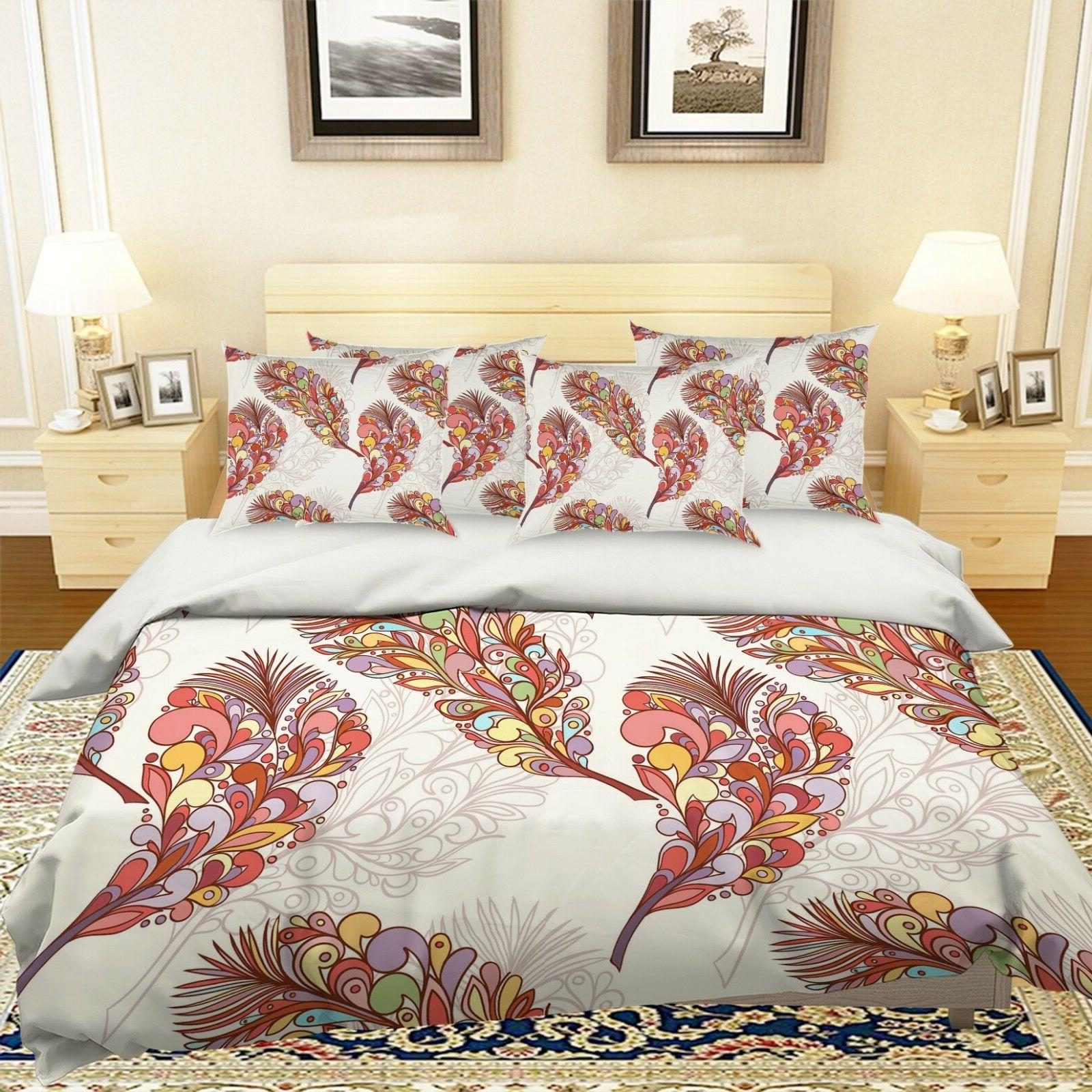 3d plumage pattern 26 bed pillowcases quilt