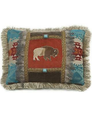 carstens feather buffalo pillow red