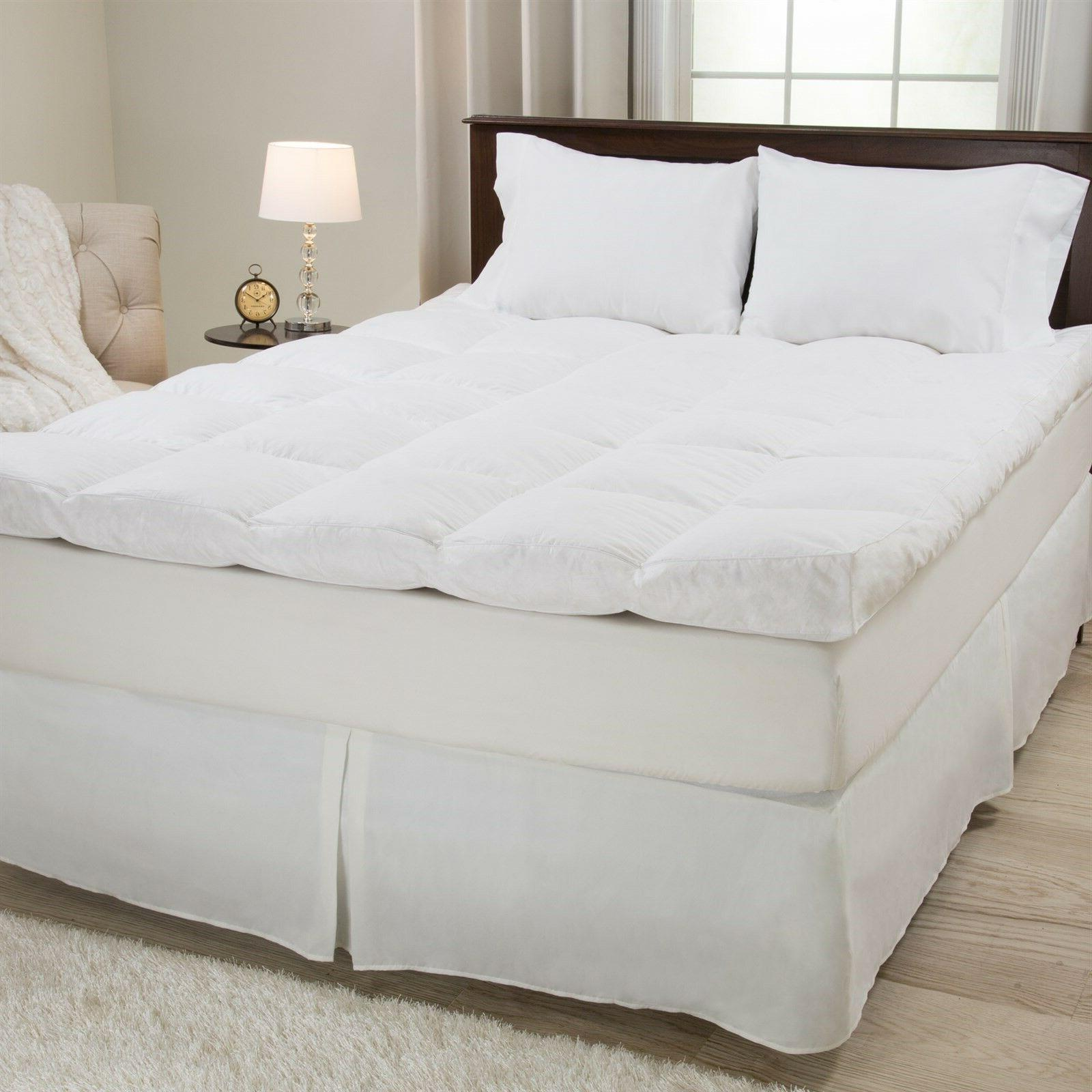 duck and down feather gusset bed topper