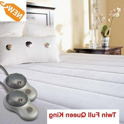 electric quilted mattress pad heated warm bedding