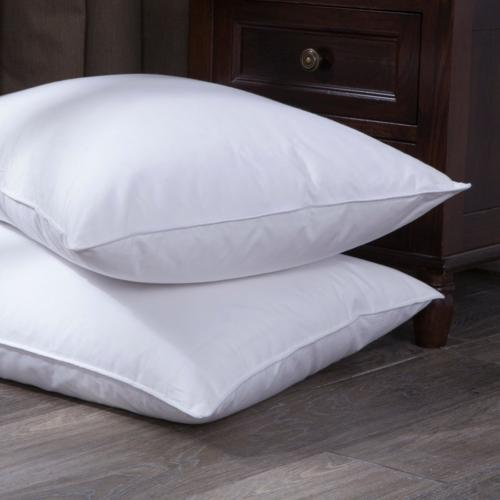 Puredown Goose Down and Feather Bed Pillow, Standard/Queen,