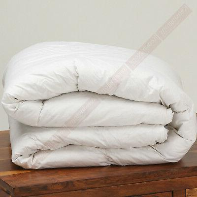 LUXURIOUS Lightweight 50% Goose Down and Feather Quilt UK