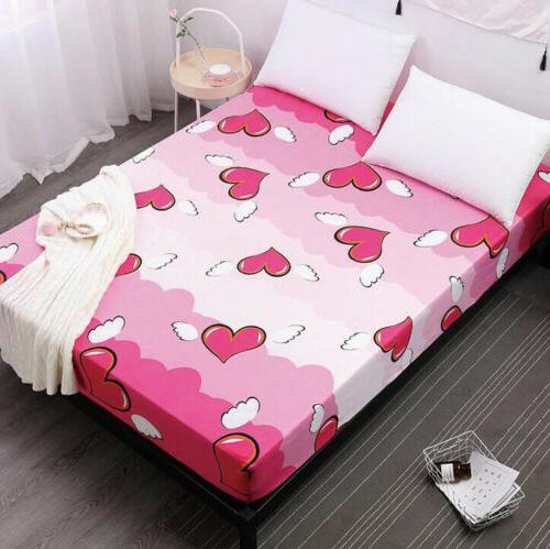 10 Sizes Printed 100% Waterproof Bed Fitted Sheet Pad Mattre