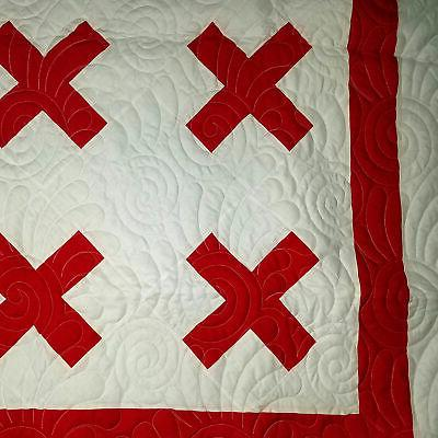 Red White Cross - feathers
