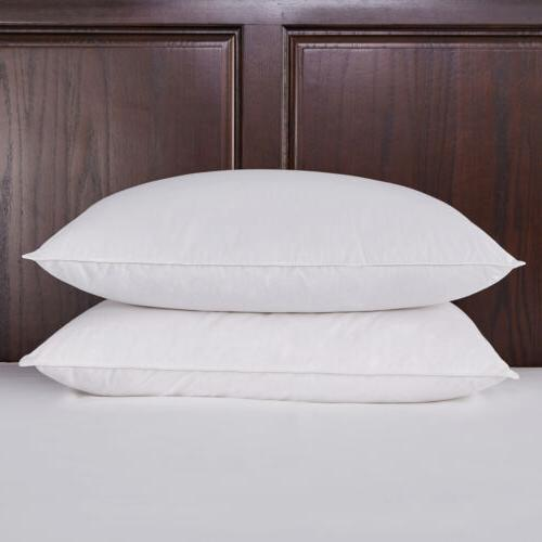 soft waterfowl feather down fiber bed pillows