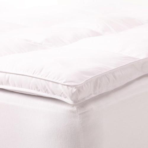 Superior Topper, Hypoallergenic White Down Featherbed Mattress Pad - Plush, Thick