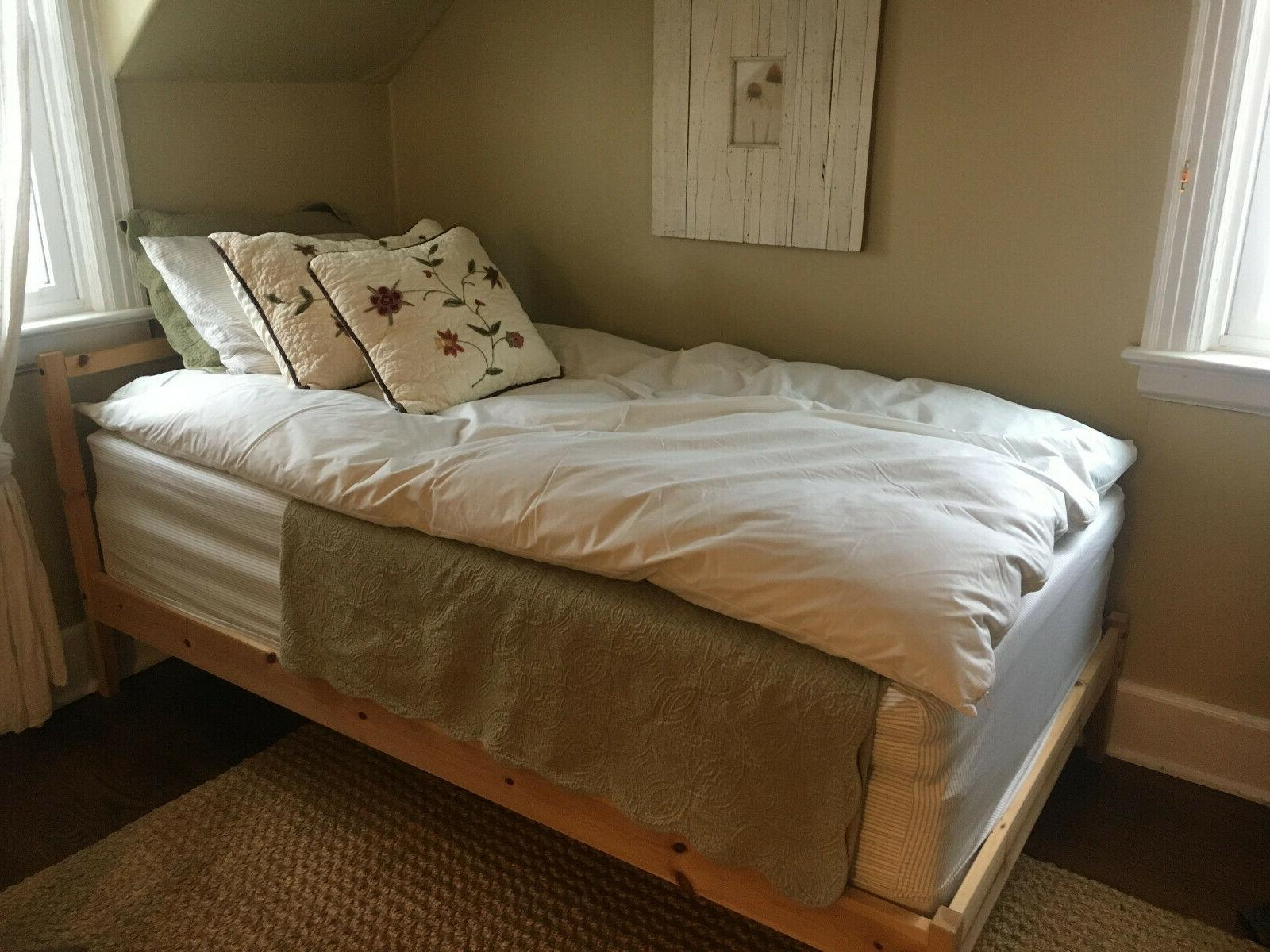 two twin feather beds 39 x 75