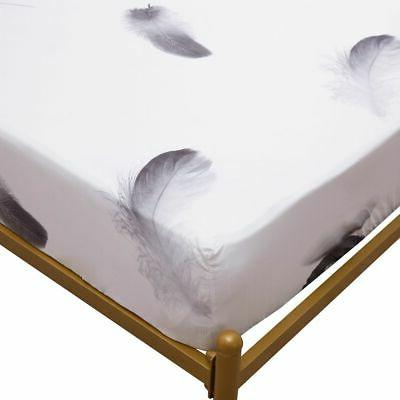 """Waterproof Floral Mattress Protector Fitted Sheet 11.8"""""""