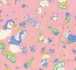 Lucys Feather Bed pink ducks childrens Moda fabric