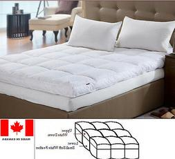 Luxury Down Feather bed / Mattress Topper Custom Made In Can