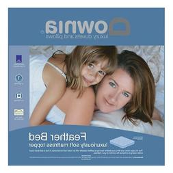 DOWNIA Luxury Duck Feather and Down Pillowtop Mattress Toppe
