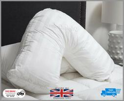 Luxury Duck Feather & Down V Shape Pillow Neck Back Orthoped