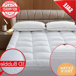 mattress topper 2inches microfiber soft featherbed 3dbubble
