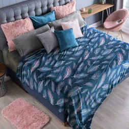 MINSK FEATHERS DESIGN  LIGHT BLANKET VERY SOFTY AND WARM  QU