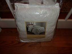 NIP Blue Stone White 100% Cotton Feather Down Full/Queen Bed