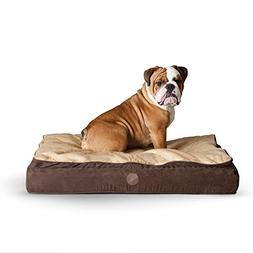 K&H Pet Products Feather Top Ortho Bed Medium Chocolate/Tan