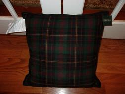 Ralph Lauren Plaid Red/Black/Green Waterfowl Feathers Filled