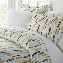 Home Collection Premium Ultra Soft Feathers Pattern 3 Piece