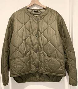Rocky Mountain Featherbed Quilted Liner Jacket Olive Sz 42 L
