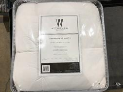 Wamsutta® Quilted Top Featherbed Twin Mattress Topper in Wh
