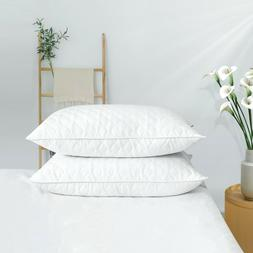 Qulited Bed Pillows Goose Down Feather Wave Quilting Design