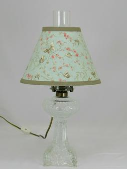 Reproduction of the Antique Princess Feather Glass Lamp with