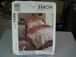 McCall's 8037 Feather Bed & Duvet Covers, Shams, Dust Ruffle