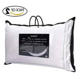 Set of 2 Goose Down and Feather Pillow Queen King Size Bed P
