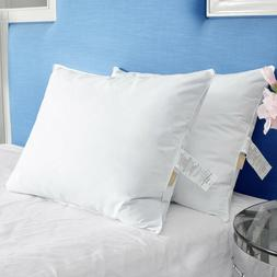 Puredown® Set of 2 Goose Down Feather Firm Pillows for Side
